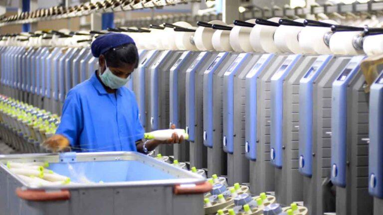 Organic cotton spinning.