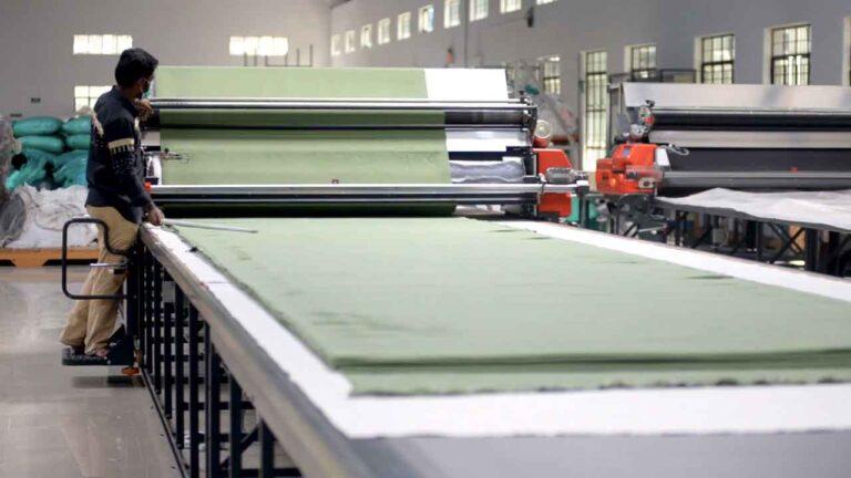 Fabric processing.