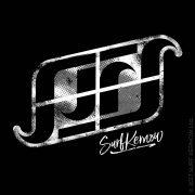 'Surf Kernow Logo' on Black surf hoodie.